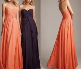 Long Prom Dresses, Formal Dress, Long Bridesmaid Dress, Fashion Evening Dress, Chiffon Wedding Dresses